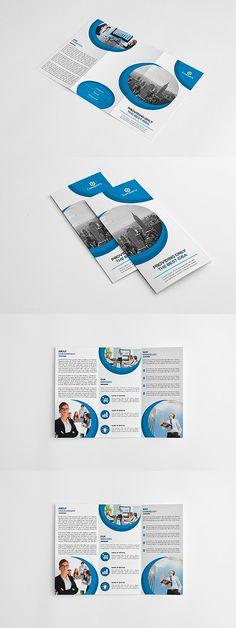 Corporate Trifold Brochure Template PSD, PDF -A4