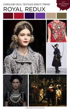 #CarolineCecil on #WeConnectFashion. Royal Redux trend, FW 16/17 women's market