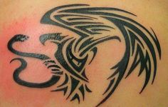 mexican eagle tattoo tribal