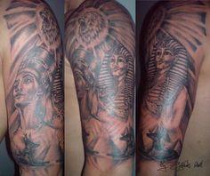 steampunk mechanical gear tattoo