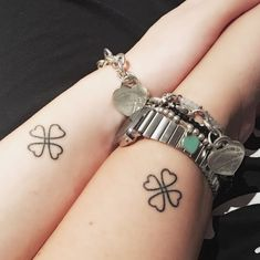 awesome Friend Tattoos - Friendship tattoo me and My bestfriend love lucky four-leaf clover...