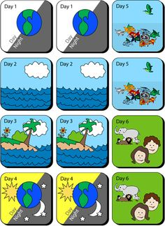 Bean Bags S Ch Easy Picture Of Days Of Creation Then Put In Order Or Tell The