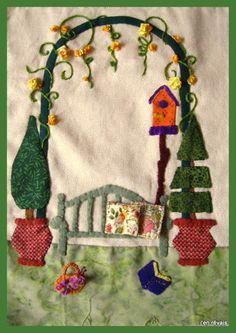 Grandma's garden - bloc 1 (d'après Scrap Quilt ans Stitch)