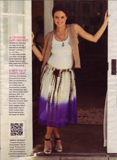 Josie Maran wearing Pame' Designs Signature necklace and bangle bracelet.
