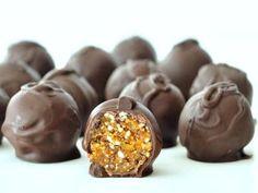Dark Chocolate Apricot Truffles @spabettie