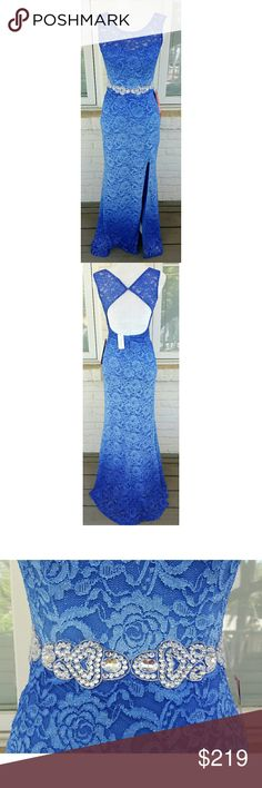 NWT, City Triangles Ombre Blue Prom Dress THIS DRESS IS GORGEOUS!!!! These pictures don't do it justice! The beautiful ombre blue colors with lace, sparkles and detailed waistline embellishment make this dress the PERFECT PROM dress for a very special girl. This dress is very special to me and I will only engage offers that are near my asking price. This dress is in pristine condition with tags attached. Never worn. City Triangles Dresses Prom