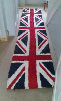 Union jack rug for the hall