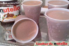 Limber de Nutella  Ingredientes: -1 lata de leche condensada -1 lata de leche evaporada -4 cdas. de nutella -1cdita de extracto de vainilla - azúcar al gusto -1/2 lata de agua (opcional) si deseas que queden cremositos no añadas el agua  Procedimiento: 1-Mezcla todos los ingredientes muy bien en la licuadora.  2-Servir en vasos plásticos.  3-Congelar y saborear, espero les guste.