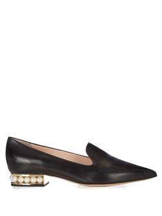Nicholas Kirkwood Casati pearl-heeled leather loafers