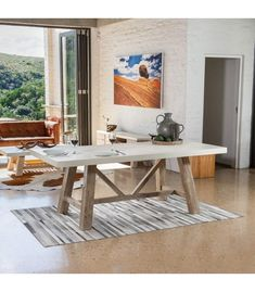 Buy an Ainsley dining table from South Africa's largest online furniture store. Wide range of dining room tables available, nationwide delivery! Dining Room Table, Table And Chairs, Dining Area, A Table, Dining Bench, Online Furniture Stores, Acacia Wood, Wood Colors, Home Decor