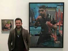 Unveiling of Amir Khan and self potrait at London's National Potrait Gallery