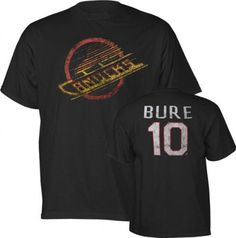 Pavel Bure Old Time Hockey NHL Alumni Vancouver Canucks T-Shirt by Old Time. $24.99. Turn back the clock and get jersey status of this all-time hockey great in the comfort of a T-Shirt in this Pavel Bure Vancouver Canucks NHL Alumni T-Shirt from Old Time Hockey. Features screen printed distressed logo on front and name and number on back and Old Time Hockey Alumni jock tag on front left.