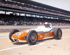 Allen Crowe (b. 1928) USAC sprint and midget winner who made a handful of starts in the early '60s... best finish of 5th at Syracuse in 1962... killed in a sprint car crash the next year... here he is at Indy in 1963: