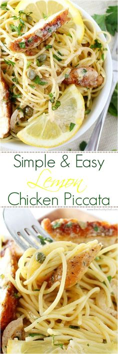 A quick and easy classic Italian dish, on your table in 30 minutes! Your family will love the bright fresh flavors of this easy lemon chicken piccata. #easy #pasta #chicken #Italian #piccata #lemon #recipe