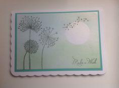 Dandelion stamp card