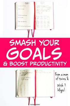Learn how a bullet journal can help you be more productive and smash your goals. Learn what a bullet journal is and how to set one up for the best productivity strategy! Planner Journal, Planner Tips, Motivation Goals, School Motivation, Business Goals, Business Tips, Creative Business, Creating A Bullet Journal, Bullet Journals