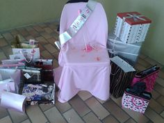 Bridal Shower Chair and Gifts