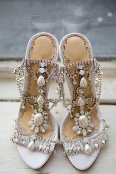 Marchesa Wedding Shoes - Stunning!! ~  we ❤ this! moncheribridals.com