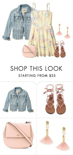 """""""Jeans Jacket"""" by sjlew ❤ liked on Polyvore featuring Hollister Co., Kate Spade and Lucky Brand"""