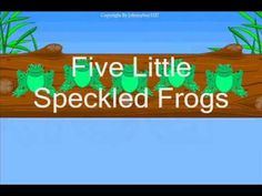 Five Little Speckled Frogs nursery rhyme raffi sing along song with lyrics karaoke