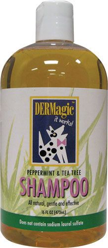 Here's a product I like that you might want to check out! You can get DERMagic Skin Care for Animals Peppermint Tea Tree Oil Shampoo for just $16.95 (a 5% savings!) at TripleClicks.