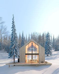 New chalets with Scandinavian inspirations in the suburbs of Quebec – Idées pour chalet - architecture house Architecture Design Concept, Architecture Résidentielle, Modern Exterior, Exterior Design, Exterior Siding, Exterior Signage, Casa Patio, Cabins In The Woods, Cabins In The Mountains