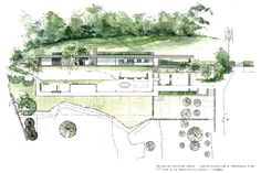 Loyn & Co's 'timeless' house for a pair of artists in rural Gloucestershire is the winner of the 2016 Manser Medal Newport Street Gallery, Forest Of Dean, Inside Outside, Floor Plans, Architects, House, Image, Architecture Sketches, Architectural Drawings