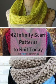 42 Infinity Scarf Patterns to Knit Today | These easy infinity scarf patterns are perfect for knitters of all skill levels.
