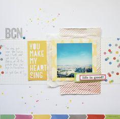 BCN. by ScatteredConfetti  // #scrapbooking #scatteredconfetti #ellesstudio