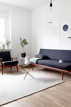 Salon Vintage revisité, chic et minimaliste | mid-centur y Modern vibes, chic and minimalist living room