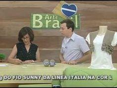 ARTE BRASIL -- CLAUDIA MARIA -- BOLERO EM CROCHÊ COM BABADINHO (07/03/20...