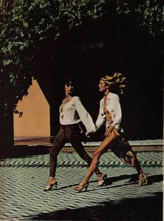 The Meaning of - Dayle Haddon and Christie Brinkley by Helmut Newton for Vogue May 1977