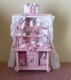 Dolls House Nursery Dresser  Jemima by HELENSOOAKMINIATURES