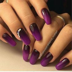 Best Ombre Nails for 2018 - 48 Trending Ombre Nail Designs - Best Nail Art - Nail Design Manicure Nail Designs, Ombre Nail Designs, Nail Manicure, Nail Art Designs, Pedicure, Ombre Nail Colors, Manicure Ideas, Nail Polish, Hot Nails