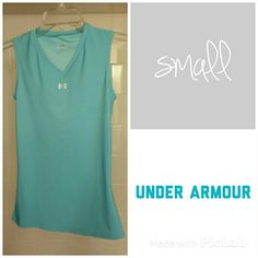 Under Armour Small Sleeveless Top EUC Women's small Under Armour workout top - like new, great color! Under Armour Tops Muscle Tees