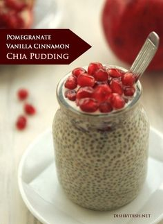 Pomegranate Vanilla Cinnamon Chia Pudding