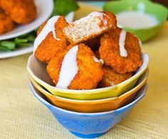 These Homemade Buffalo Chicken Nuggets are made with ground chicken and are grain free, gluten free, dairy free and sugar free.