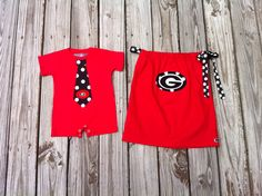 Custom boutique  UGA bulldogs game day red by EverythingSorella, $67.50