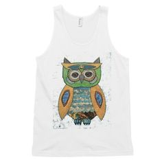 Now Available in our store Music Moves Me Ow... Stop by and take a peek! http://crookedfingerart.com/products/music-moves-me-owl-classic-tank-top-unisex
