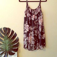 Low Back Floral Print Dress