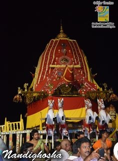 The Chariot of LordJagannath is known as Nandighosha. Lord Jagannath, Taj Mahal, Tourism, India, Explore, Travel, Turismo, Goa India, Viajes