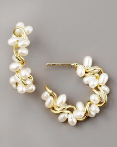 Pearl Hoop Earrings by Joseph Murray at Bergdorf Goodman.