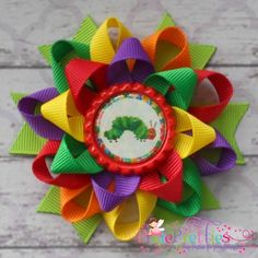 A Very Hungry Caterpillar Loopy Flower Bow for party favor