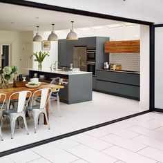 Appealing Apartment Kitchen decorating Ideas - Page 11 of 93 Living Room Kitchen, Home Living, New Kitchen, Kitchen Ideas, Kitchen White, Apartment Kitchen, Kitchen Island, Awesome Kitchen, Open Plan Kitchen Dining Living