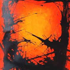 'Source'-orange series. Oil pastel and Indian ink 2012 by Claire Davies       clairedavies273@hotmail.co.uk