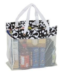Take a look at this Black & White Reuze Tote by Picnic Plus on #zulily today! $15