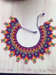 VK is the largest European social network with more than 100 million active users. Beaded Collar, Beaded Choker, Beaded Jewelry, Collar Indio, Collar Redondo, Beads And Wire, Bead Art, Bead Weaving, Beaded Embroidery
