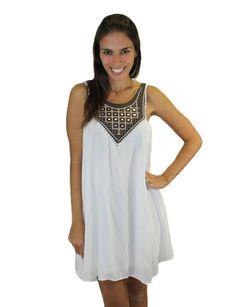 White Shift Dress! ❤️