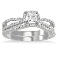 @Overstock - White diamond bridal ring set10-karat white gold jewelryClick here for ring sizing guidehttp://www.overstock.com/Jewelry-Watches/10k-White-Gold-5-8ct-TDW-White-Diamond-Bridal-Ring-Set-I-J-I1-I2/7154029/product.html?CID=214117 $649.99