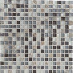 Mosa que ice flou gris 2x2 cm leroy merlin salle de - Mosaique adhesive leroy merlin ...